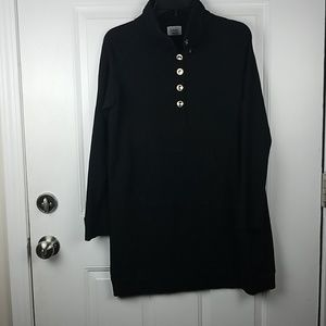 Fantastic Fawn Black longsleeve dress  Sz L